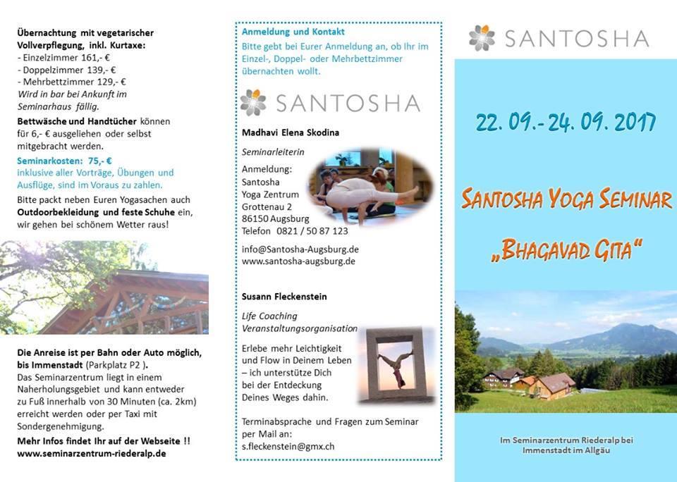 Santosha yoga seminar 2