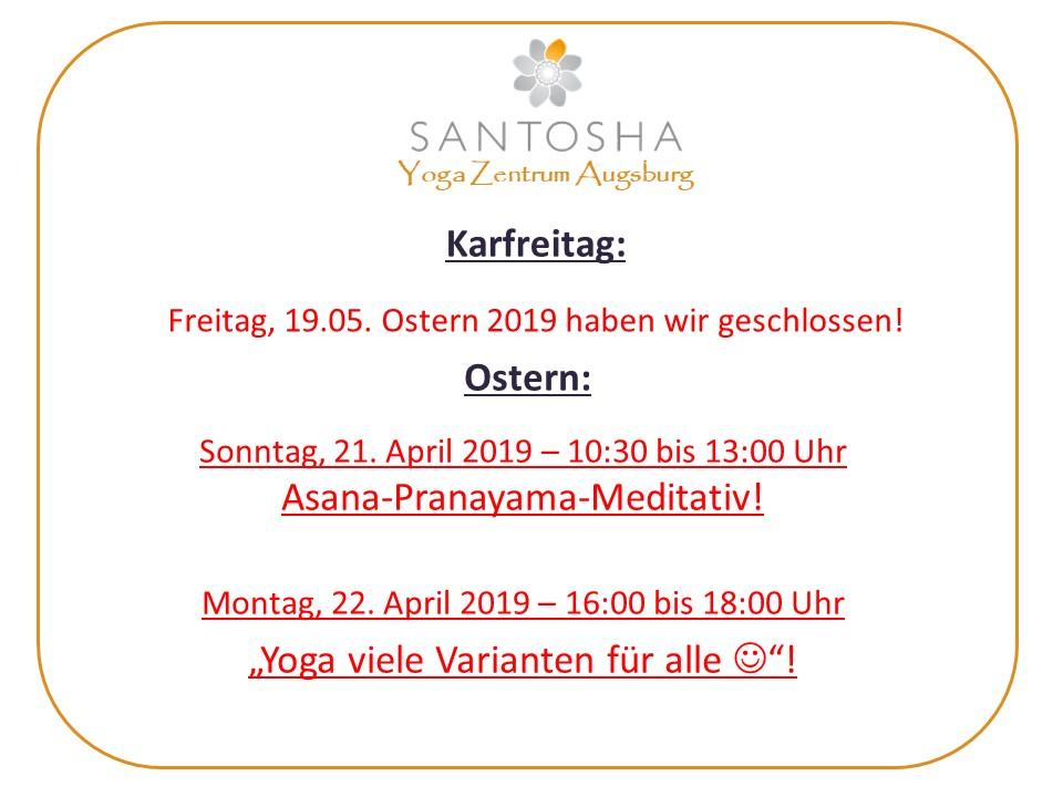 Sonderprogramm Ostern 2019