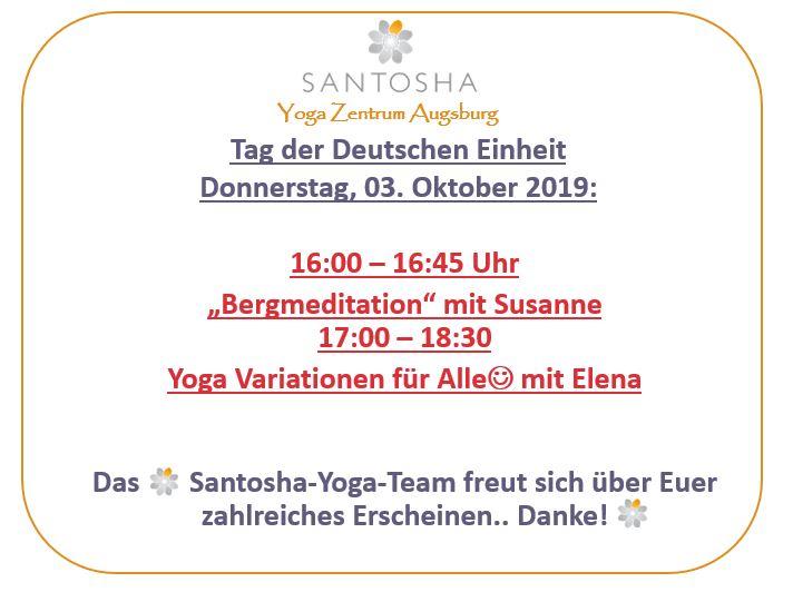 Yoga-Sonderprogramm für Feiertag