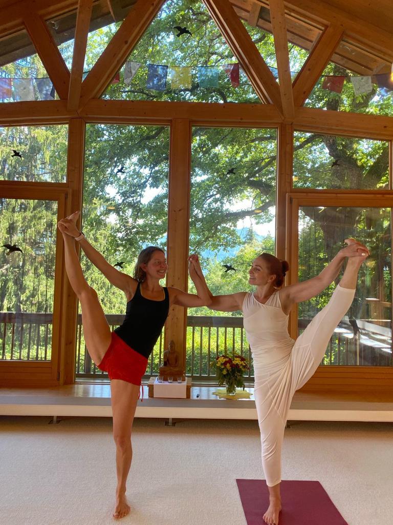 Auch Privatkurse mit Elena sind im Yogastudio Santosha möglich